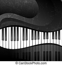 teclas, abstratos, grunge, piano, fundo
