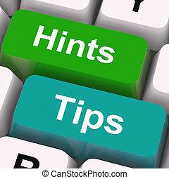teclas, conselho, sugestões, hints, orientação, má