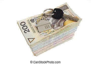teclas, dinheiro