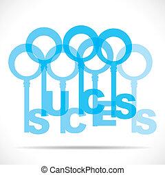teclas, grupo, fazer, palavra, sucesso