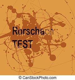 tecnica, rorschach, illustrazione, inkblot, projective, prova, semplicemente, o