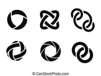 tecnología, órbita, tela, rings.