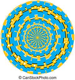 tecnología, anillo, trauma, (motion, illusion)