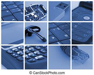 tecnología, collage