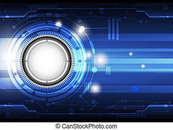 tecnología, concepto, plano de fondo