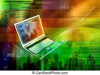 tecnología de internet, concepto