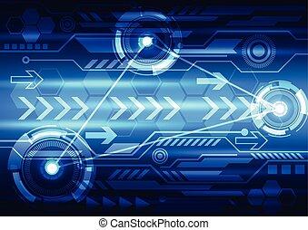 tecnología, diseño abstracto, digital