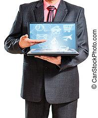 tecnología, en, el, manos
