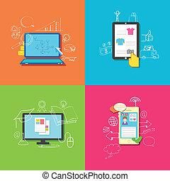 tecnología, en línea