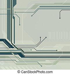 tecnología, estilo, plano de fondo