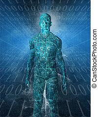 tecnología, humanoide