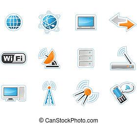 tecnología inalámbrica, iconos