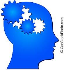 tecnología, innovación, mente