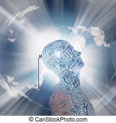 tecnología, mente