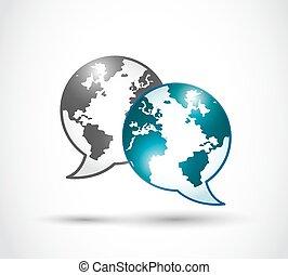 tecnología, mundo, comunicación
