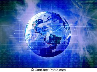 tecnología, planeta, 3