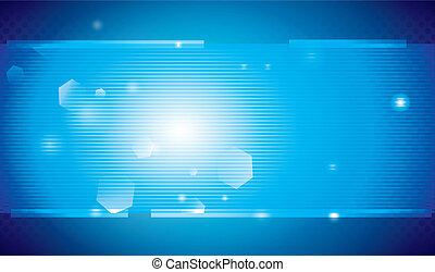 tecnología, plano de fondo, luz azul