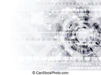 tecnología, resumen, vector, moderno, plantilla