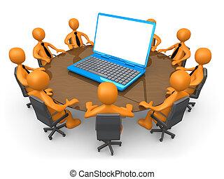 tecnología, reunión
