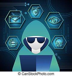 tecnología, seguridad, cyber