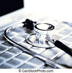 tecnología, y, medicina