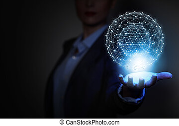 tecnologías, de conexión, el mundo
