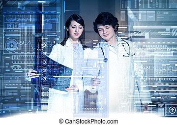 tecnologías modernas, en, medicina