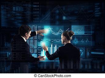 tecnologías, moderno, uso