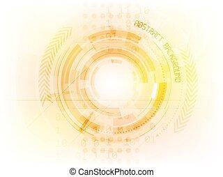 tecnologia, abstratos, vetorial, futuro, fundo