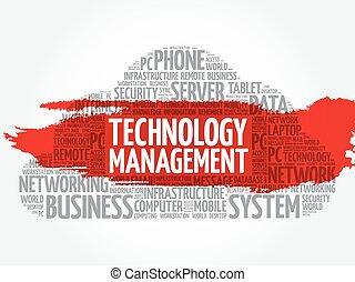 tecnologia, amministrazione, parola, nuvola