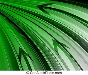 tecnologia, astratto, verde, fondo.