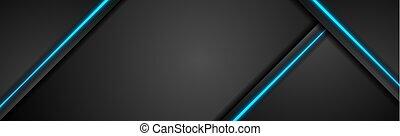 tecnologia, bandiera, luce blu, nero, concetto
