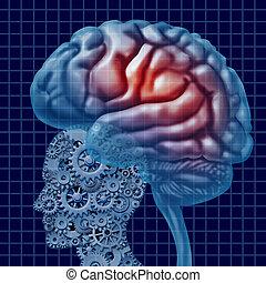 tecnologia, cervello, intelligenza