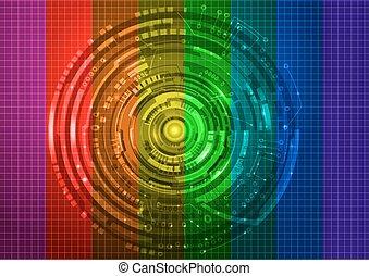 tecnologia, coloridos, fundo