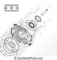 tecnologia, composizione, disegno