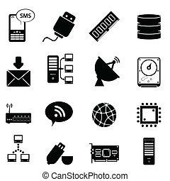 tecnologia computador, ícones