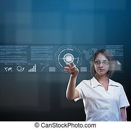 tecnologia, conceito, alto