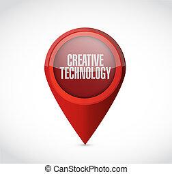 tecnologia, conceito, Ponteiro, Criativo, sinal