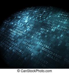 tecnologia, concept:, hex-code, sfondo digitale
