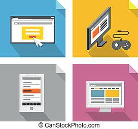 tecnologia, concepts., moderno, disegni elementi