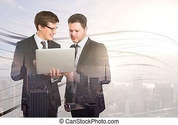 tecnologia, concetto, associazione