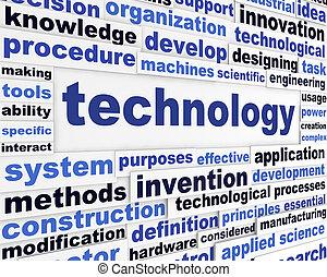 tecnologia, disegno, scientifico, parole