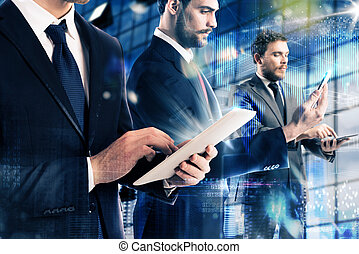 tecnologia, e, affari