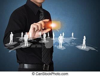 tecnologia, e, social, mídia