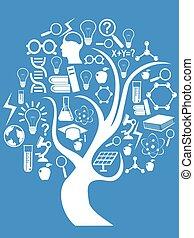 tecnologia, educação, árvore
