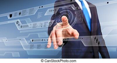 tecnologia, em, negócio