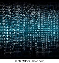 tecnologia, fondo, binario, astratto