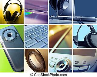 tecnologia, fotomontaggio