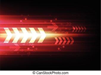 tecnologia, freccia, fondo