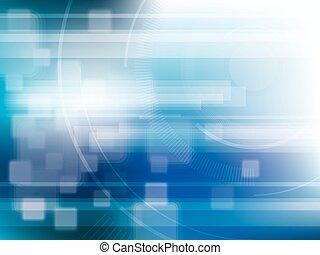 tecnologia, fundo, azul, futurista, abstratos, com, luminoso, lights.